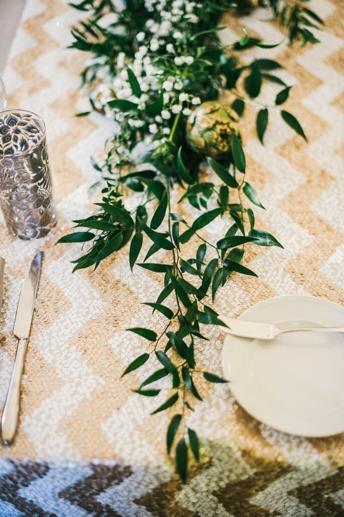 El mejor uso del chevron para tu boda - Foto Ken Kienow Photography