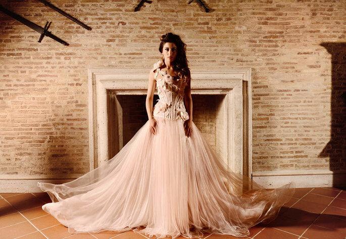 Brunella Sposa - abito da sposa color champagne