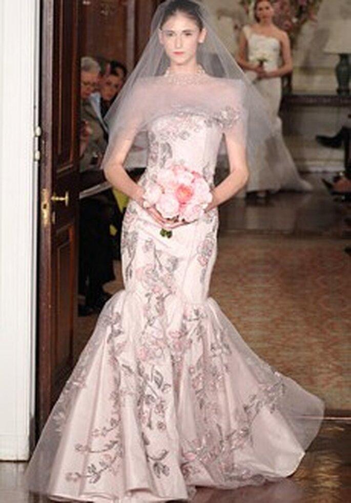 Rosa Brautkleid von Carolina Herrera