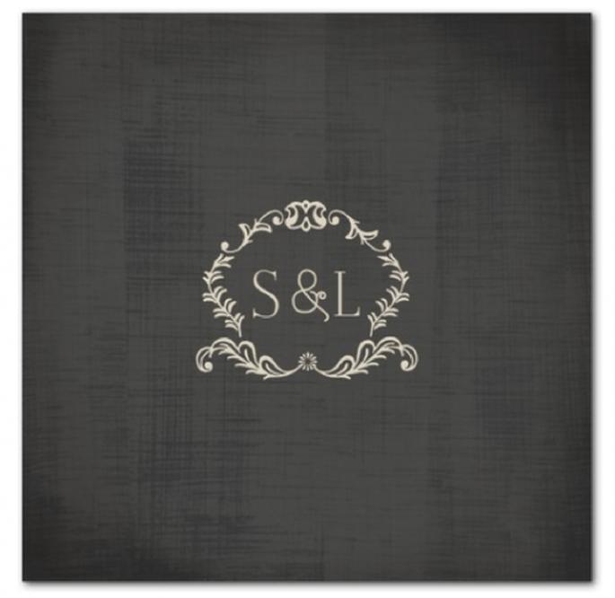 Invitación de boda vintage con diseño minimalista - Foto Wedding Paper Divas