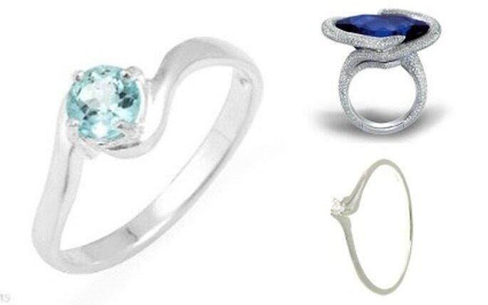 Joyas de boda: topacio, zafiro y diamante