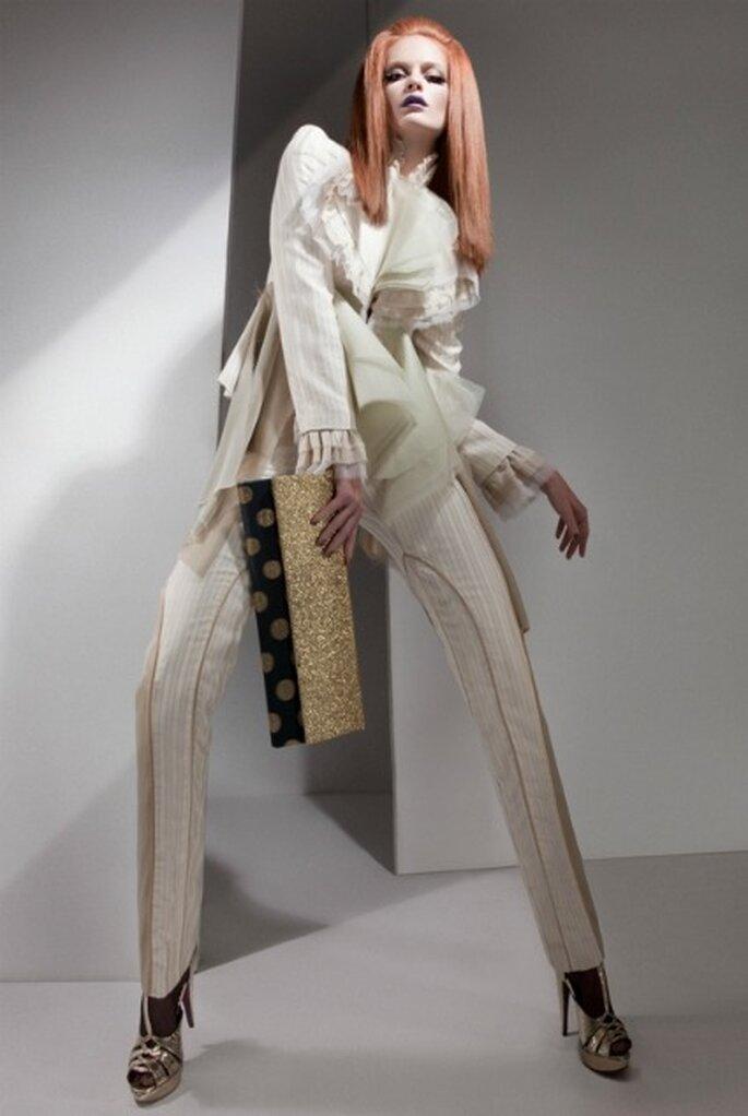 Si eres una novia moderna y te gusta destacar, no lo dudes y lleva pantalones el día de tu boda - Eugenio Loarce