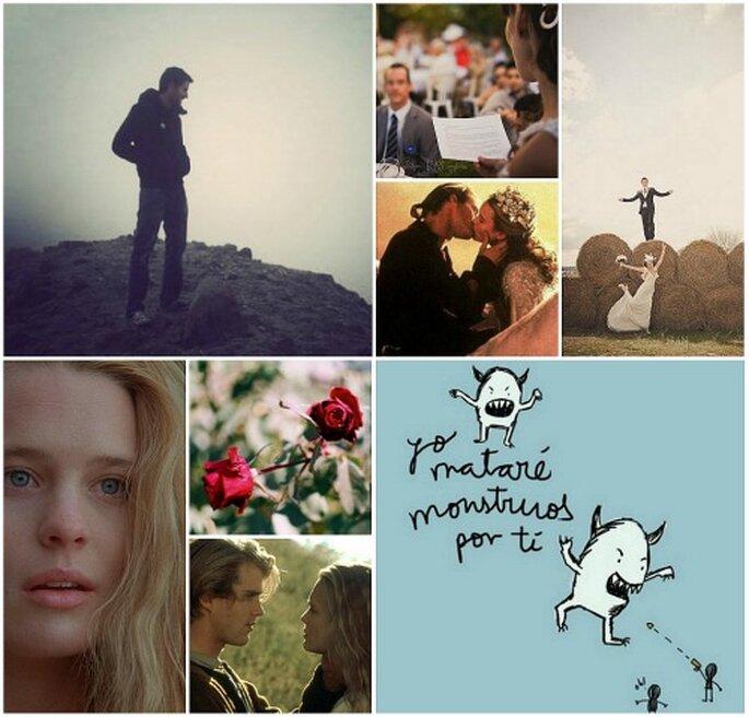 Una línea de tu canción favorita puede convertirse en la mejor forma de prometeros amor eterno. Fotos: Lyona Alyona, Fran Russo, Paula Guinot