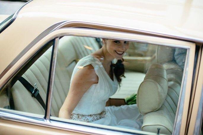 Noiva com vestido da mãe