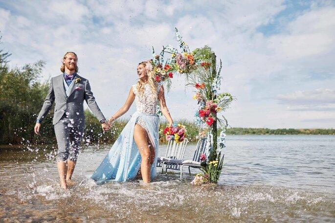 Under water Love Inspirationsshooting Hochzeit Traubogen
