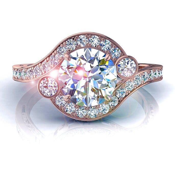 Anel de noivado exclusivo