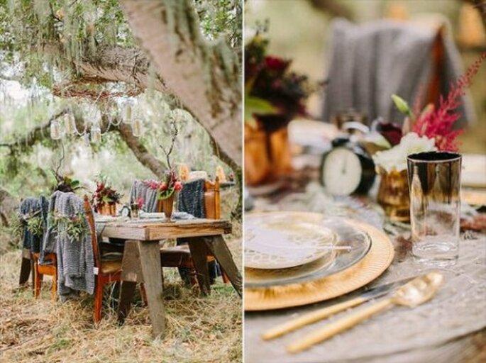 Herbstliche Hochzeitsdekoration mit Charme – Foto: Danielle Capito