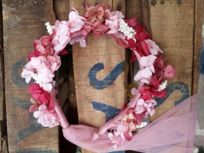 Foto: Flores en el columpio