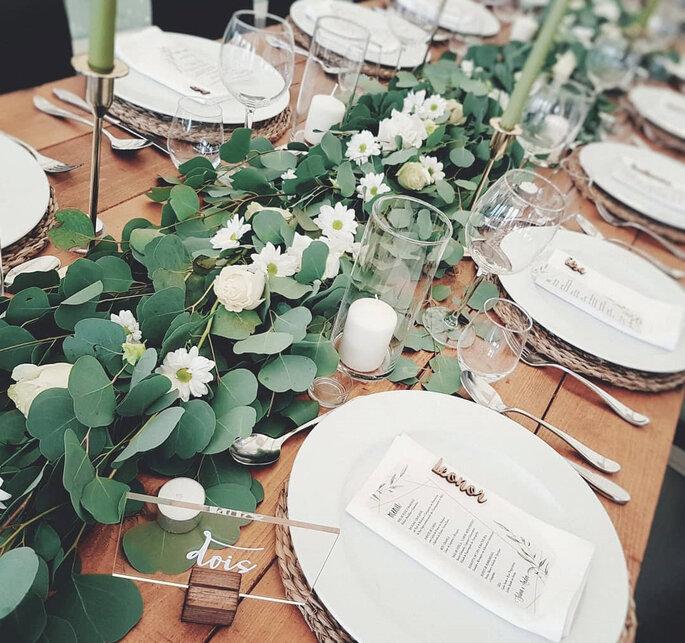 mesa de casamento estilo rústico