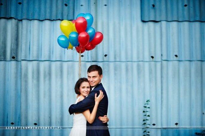 sesja zdjęciowa ślubna z balonami