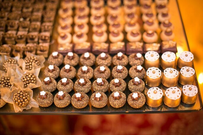 Mesa de doces mosaico