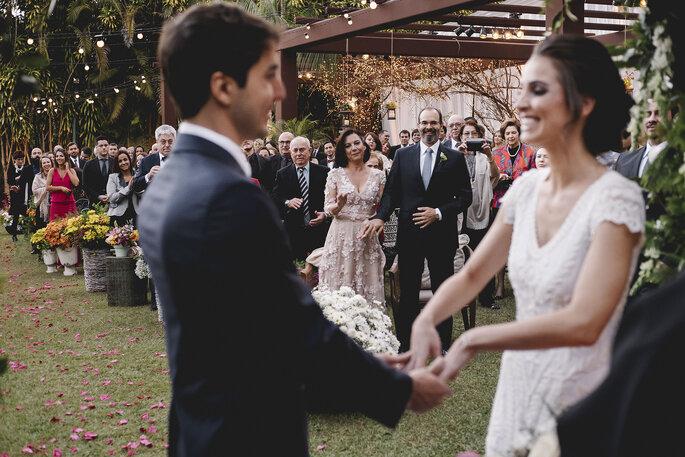 Felicidade pais da noiva