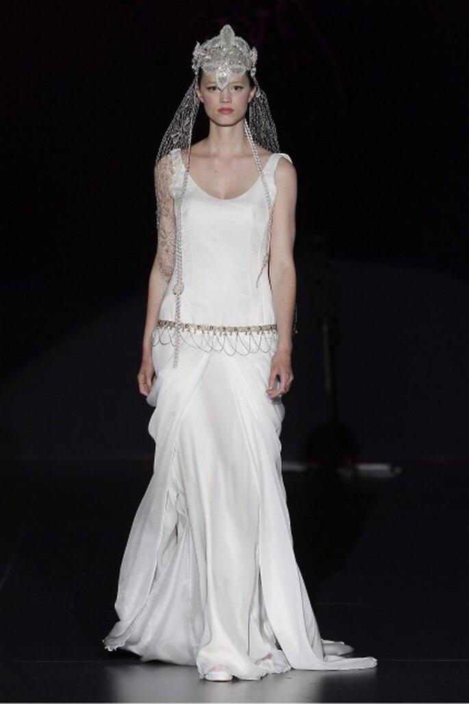 Vestido de novia Isabel Zapardiez 2012 inspirado en los años '20