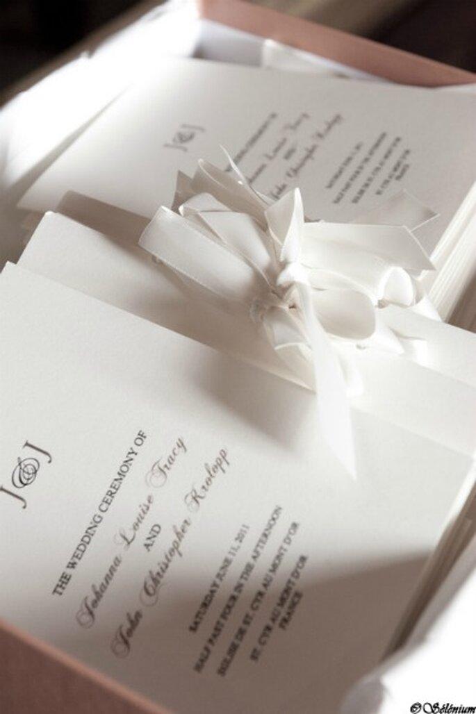 Livrets de messe, faire-part de mariage : on s'organise ! - Crédit photo : Selenium