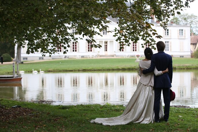 Lieu de réception de mariage avec un lac
