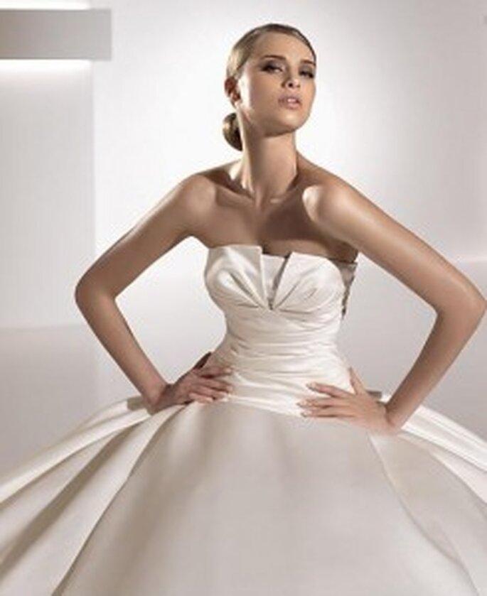 Este es uno de los vestidos que ofrece Pronovias