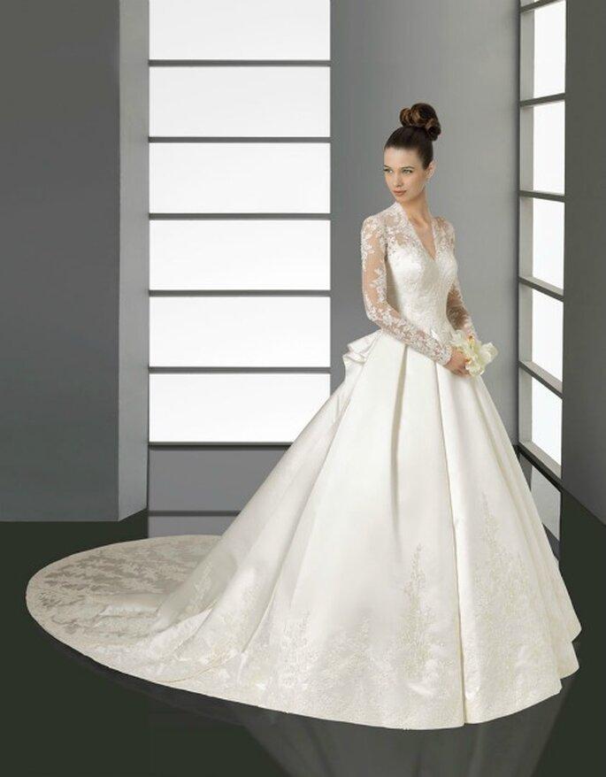 """L'abito da sposa di Kate Middleton """"rivisitato"""" per chi desidera sentirsi una principessa! Aire Barcelona Collezione 2012 Mod.Kate"""