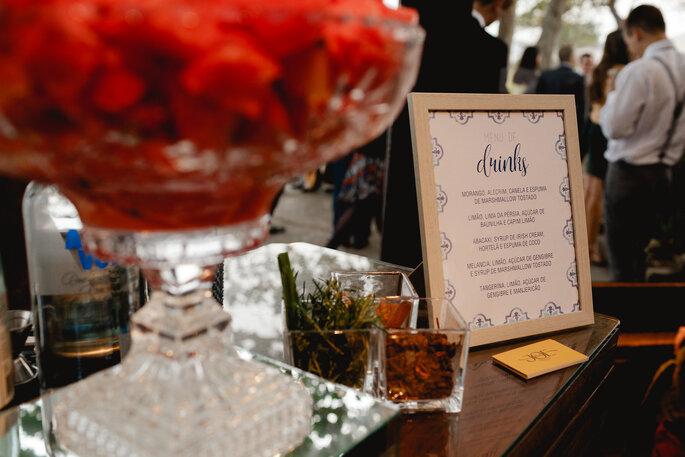 open bar drinks casamento