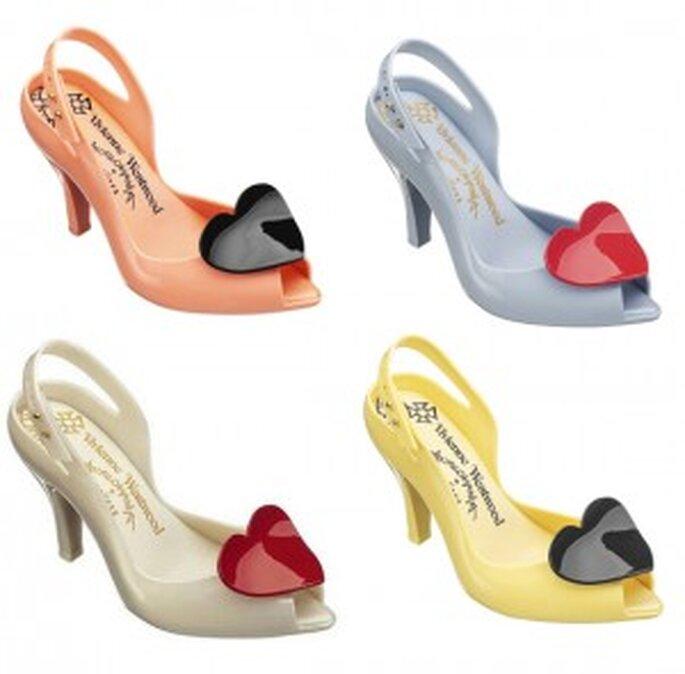 Sandales en caoutchouc, bout pointu et bride ajustable, talon 9cm