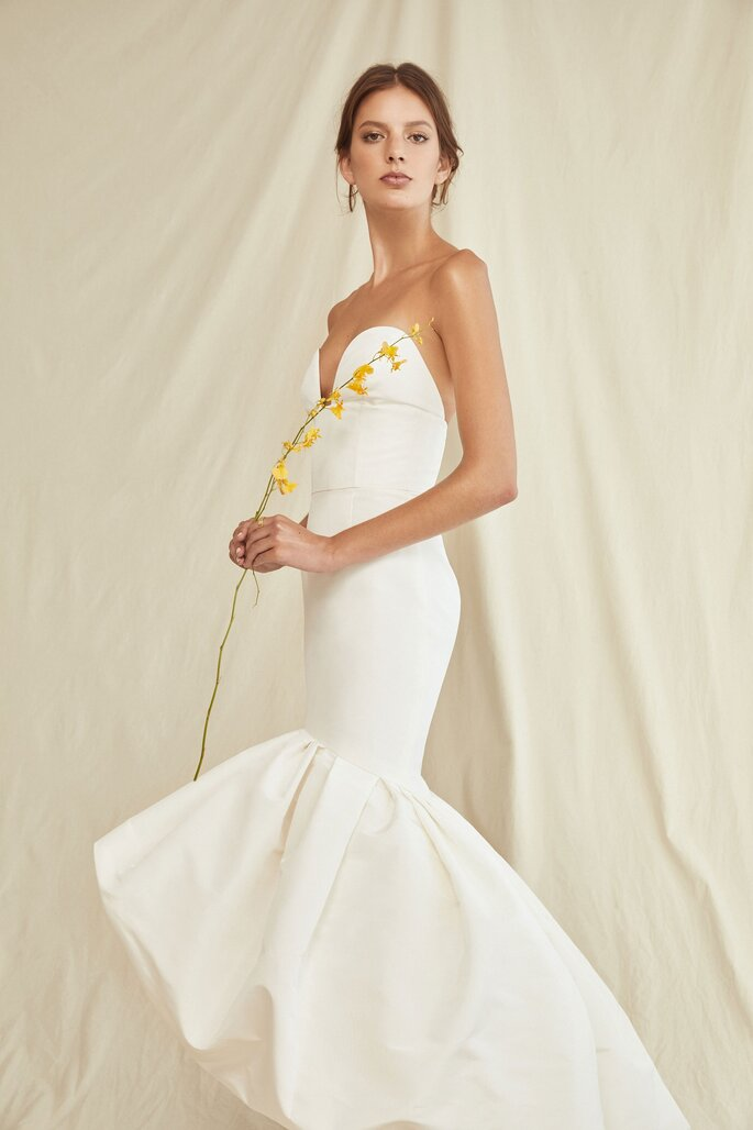 Robe de mariée bustier sirène originale