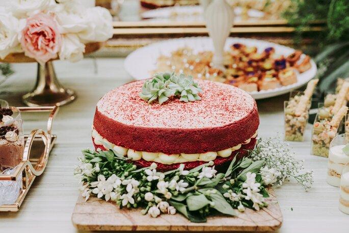 Torta de matrimonio Red Velvet