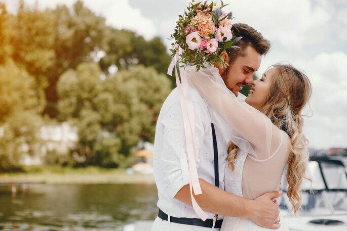 Ensaio dos noivos após o casamento