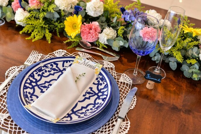 Decoração mesa dos convidados