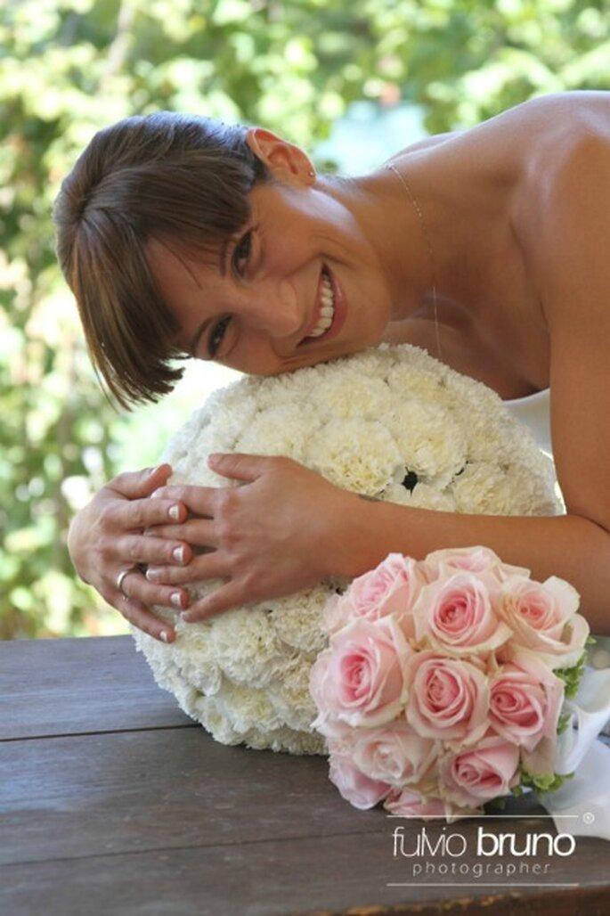 Bellissimo primo piano della nostra sposa Federica nel giorno del suo matrimonio. Foto di Fulvio Bruno