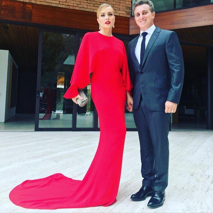 Luciano Huck e Angelica no casamento de Michelle Alves e Guy Oseary