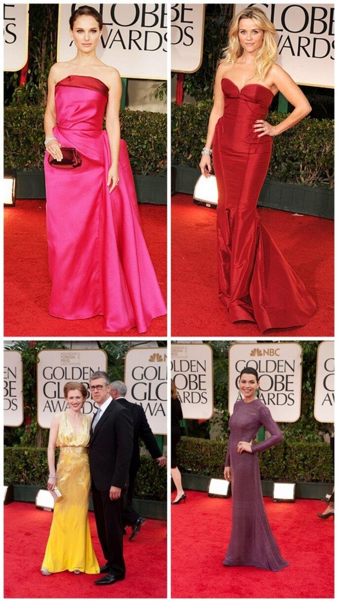 Natalie Portman, Reese Witherspoon, Mireille Enos, Juliana Margulies en Golden Globes2012