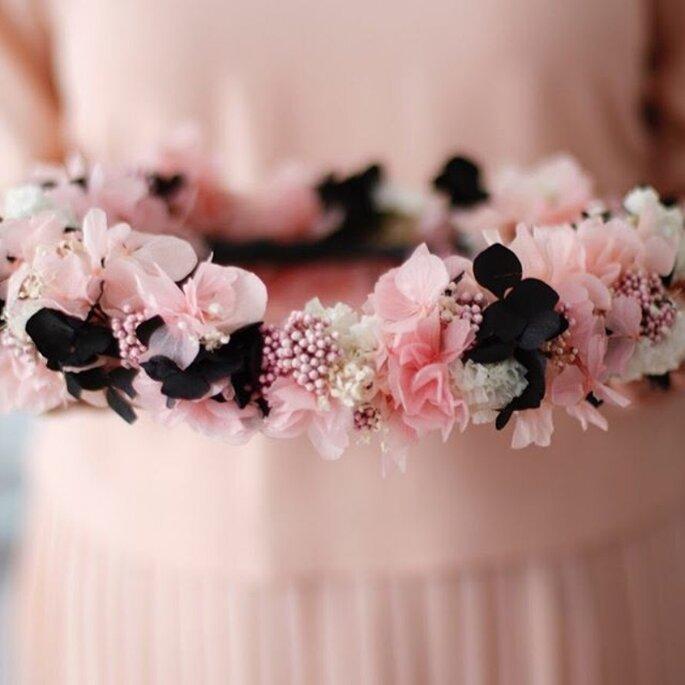Couronne de fleurs pour demoiselle d'honneur
