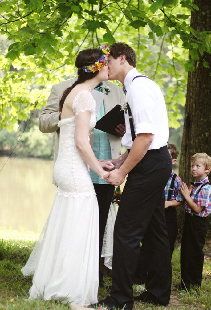 Las fotos de boda con los besos más románticos - Foto Sarah Mattozzi Photography