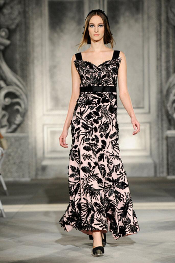 Blumenprints können aber auch sehr edel und glamourös eingesetzt werden – Foto:Chanel