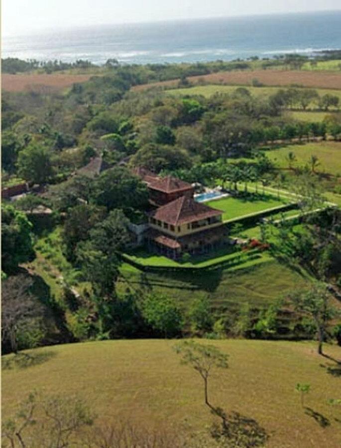 Vue aérienne Villa Camilla