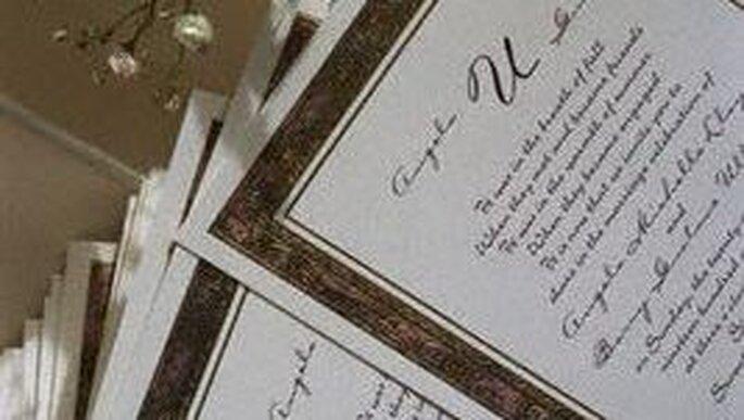 Hacer unas buenas invitaciones de boda puede ser un arte