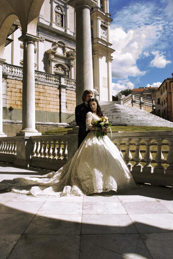 Martina Di Palma eventi green - coppia di sposi in un palazzo nobiliare