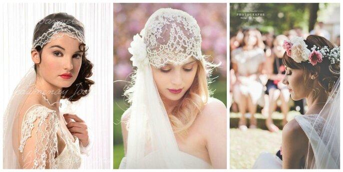 Photo à gauche : Beaumenay Joannet / Photo au centre : Rhapsodie / Photo à droite : Nicolas Natalini Photographe pour Beauty Art Coiffure