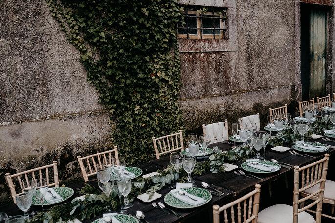 mesa casamento exterior estilo rústico chic