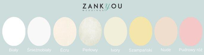 04a5774634 Czysta biel  niebieskawo-biała i migocąca. W Polsce nie jest zbyt  częstowybierana. Charakterystyczny kolor dla sukienek komunijnych.