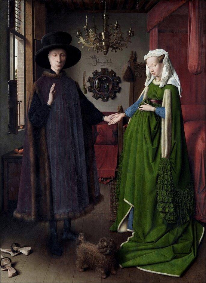 El matrimonio Arnolfini, de Jan van Eyck