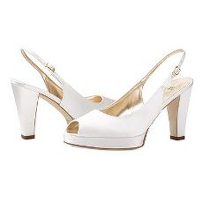 Vera Wang 2010 - Zapatos en satén blanco con plataforma