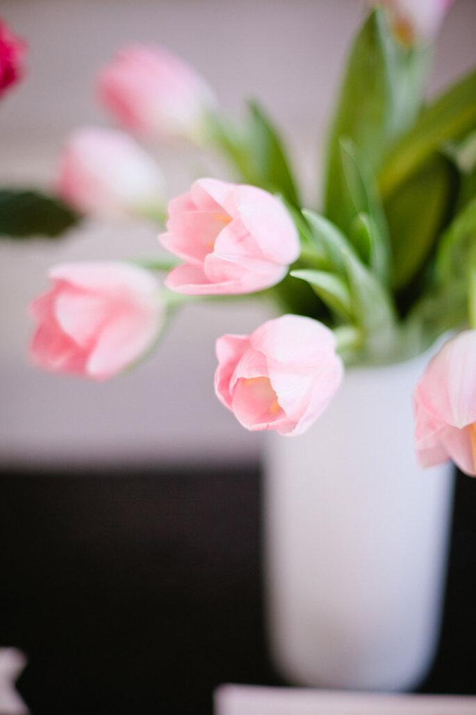 decoración con tulipanes - Brian Leahy Photography