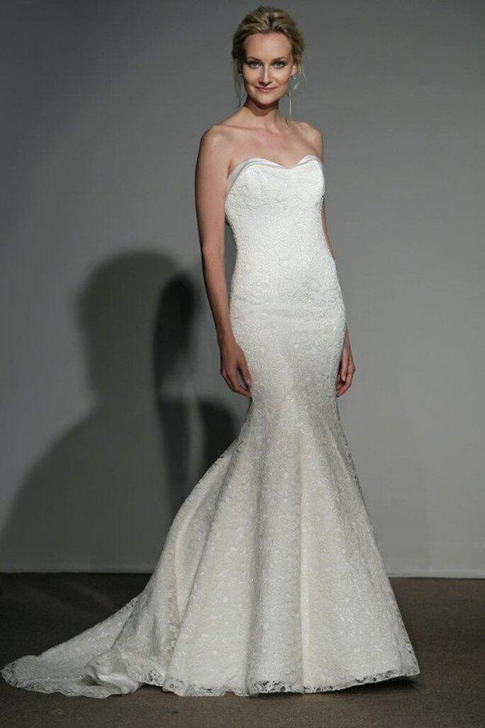 Vestido de novia estilo sirena lleno de encaje - Foto Anna Maier Ulla-Maija 2013