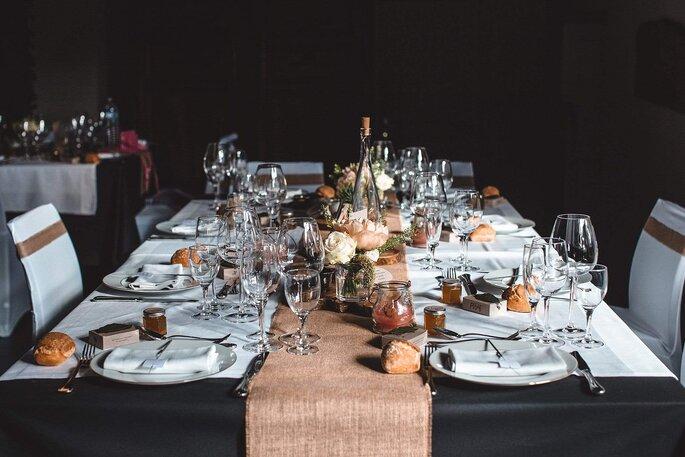 Décoration d'une table de mariage