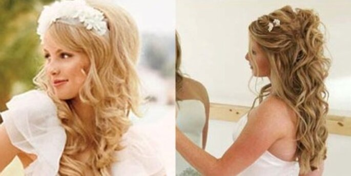 Peinados de novia, semirecogidos