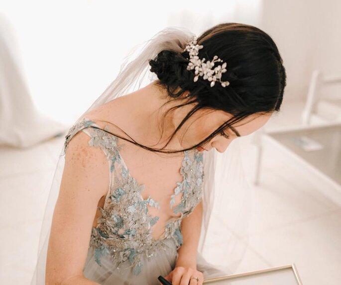 272d42222 Créditos  Idilia. guardar Cómo elegir el tocado de novia