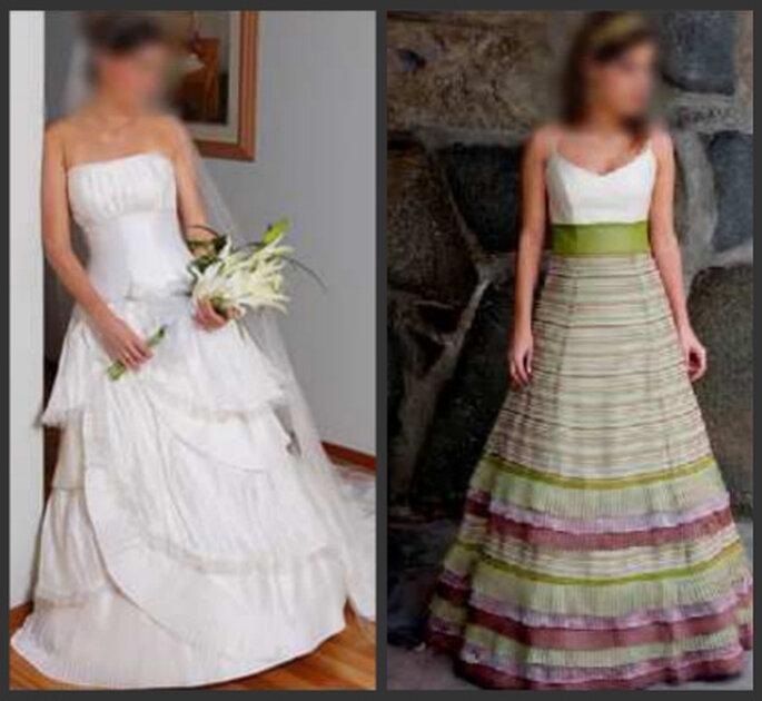 Exclusivos vestidos de buenas firmas (nacionales e importadas), con la garantía que han sido usados solamente por la novia que los da para su venta.