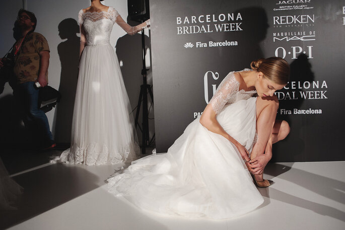 Backstage Barcelona Bridal Week 2014