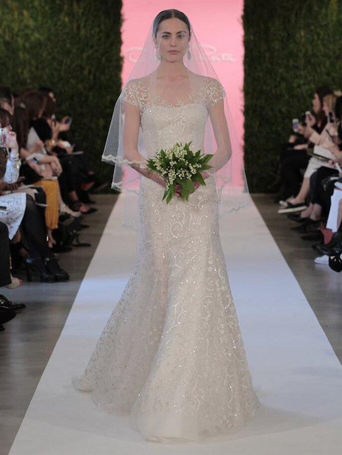 Oscar De La Renta 2015 suknia ślubna z welonem