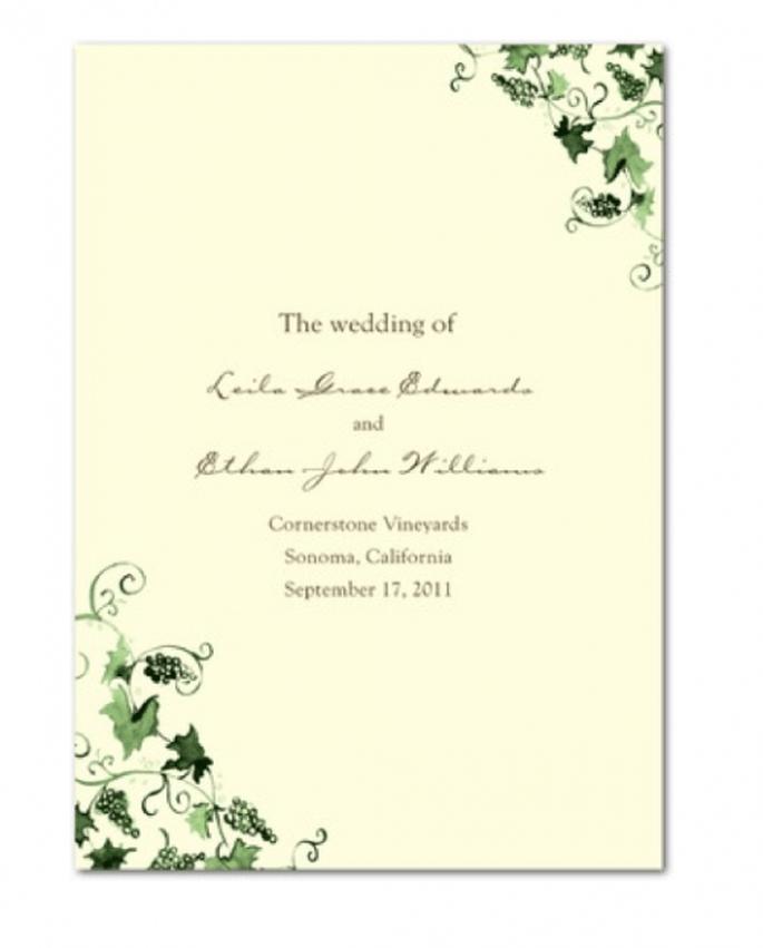 Invitación de boda con detalles decorativos en color verde esmeralda - Foto Wedding Paper Divas